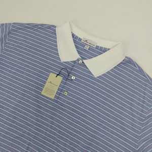 Peter Millar Crown Ease Stripe Golf Shirt Size 2XL